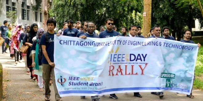 Celebrating IEEE Day-2016 at CUET with Technical Session and Idea Contest